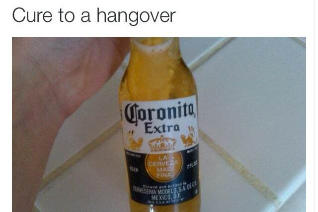 15 Best Hangover Cures As Judged By The Twitter Community hangover corona 640x426