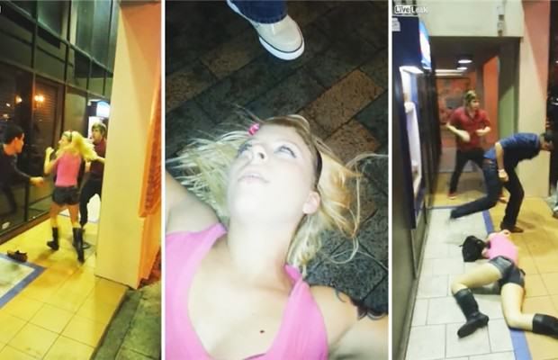 image Fight Boils Over In Florida, Guy Knocks Girl Out Cold