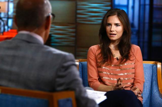 knox 4 640x426 Amanda Knox Acquitted AGAIN By Italian Court As 2007 Murder Case Draws To A Close