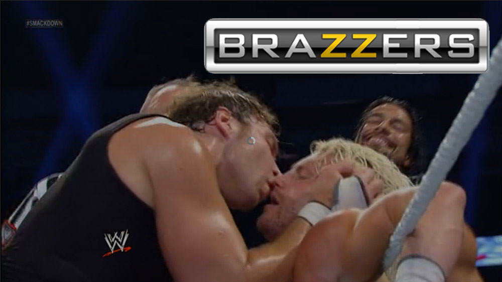 lkyjuh Brazzers Challenged Fans To Add Their Logo To WWE Stills To Make It Look Like Porn, And The Results Are Brilliant