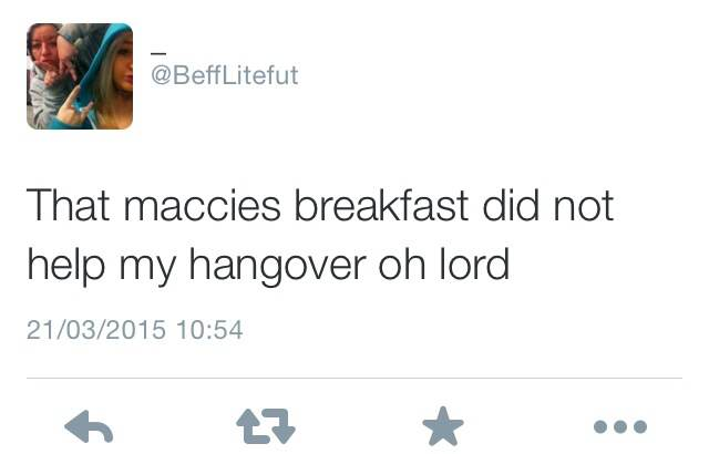 15 Best Hangover Cures As Judged By The Twitter Community maccies no