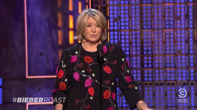 Martha Stewart Absolutely Kills It At Justin Biebers Roast martha stewart at the justin bieber roast pull out luda
