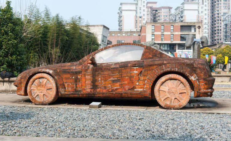 redbricks Man Builds Insane Mercedes Replica Using Only Red Bricks