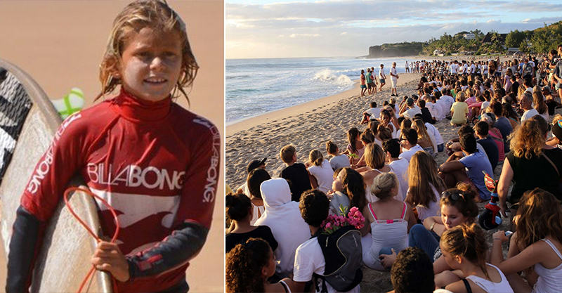 142 Hundreds Give Beachfront Tribute To Young Surfing Champ Killed By Shark