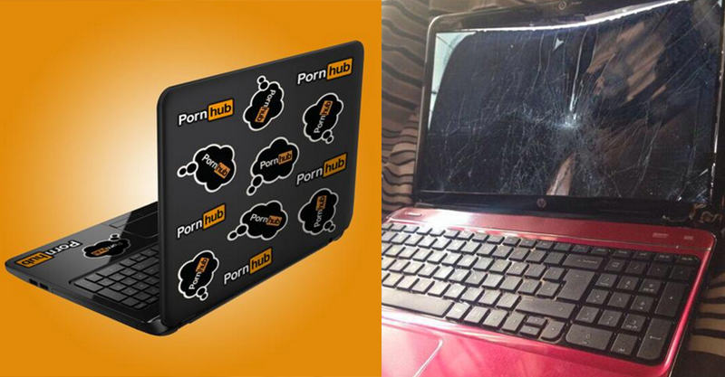 158 Pornhub Send Lad Who Broke His Laptop A New One
