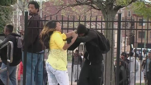 Baltimore Mother Beats Her Son After Catching Him Rioting 7589443 G
