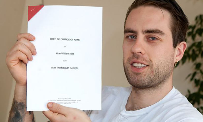 PAY Alan Kerr Student Sells His Surname To Record Label For £200