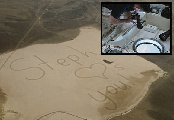 astronautWEBTHUMBNEW Teen Writes Message To Astronaut Father That Is Seen From Space