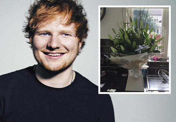 Ed Sheeran Unable To Attend Fans Funeral But Sends His Girlfriend Flowers edsheeranWEBTHUMBNEW1