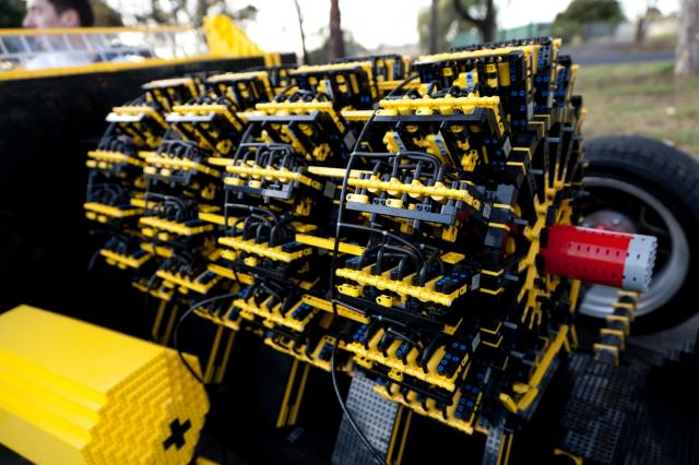 lego engine up close 640x426 This Guy Built A Full Size Lego Car That Runs 100% On Air