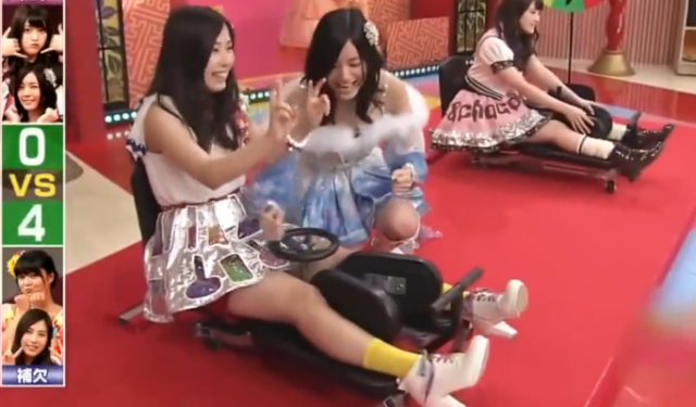 Japanese Game Show Outdoes Itself With Leg Spreading Competition For Women legs