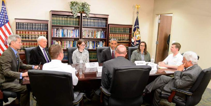 obama2 Man Accidentally Gets Invite To Obama Round Table Meeting