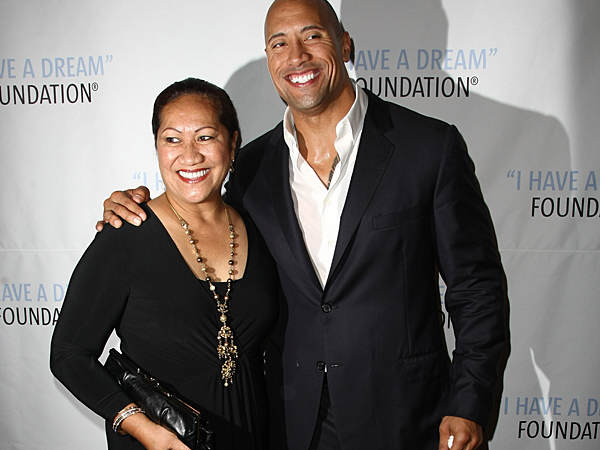 081014 Dwayne Johnson the rock 600 The Rock Posts Awesome Mothers Day Instagram For His Momma