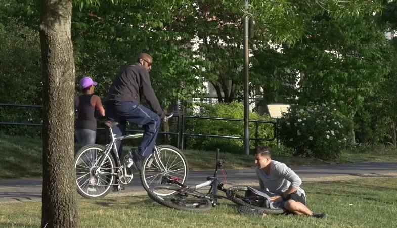 1168 Would You Help Out A Lad That Had His Balls Stuck In His Bike?