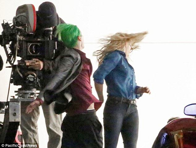 Leto joker 09 The Joker Looks Crazy As F*ck In These Suicide Squad Set Photos