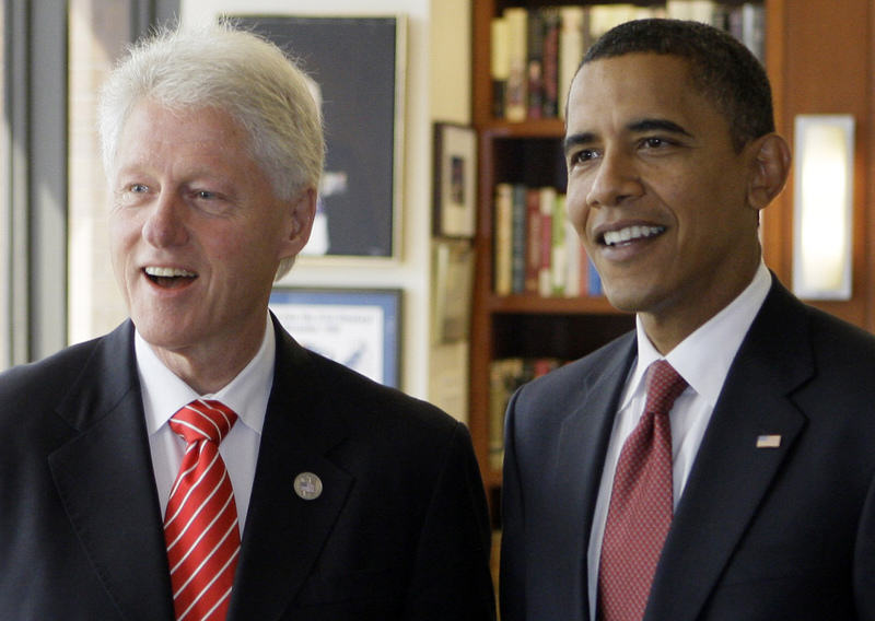 Obama clinton Barack Obama Joins Twitter, Has Presidential Banter With Bill Clinton