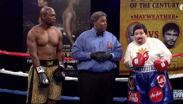 SNL May Pac 640x365 SNLs Version Of Mayweather vs Pacquiao Is Better Than The Real Thing