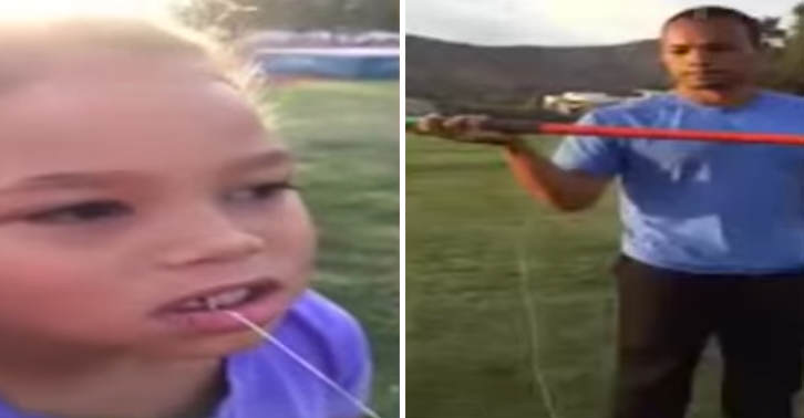 TN131 Olympic Gold Medalist Pulls Daughters Tooth Out By Throwing Javelin