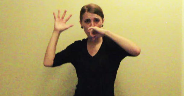 als1 Woman Does Sign Language Version Of Lose Yourself, Crushes It