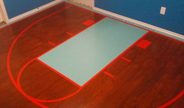 This Dad Created A Basketball Bedroom For Daughter, Its Epic girl8