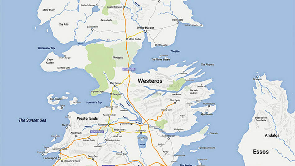got Game Of Thrones Fan Turns Westeros Into A Google Map