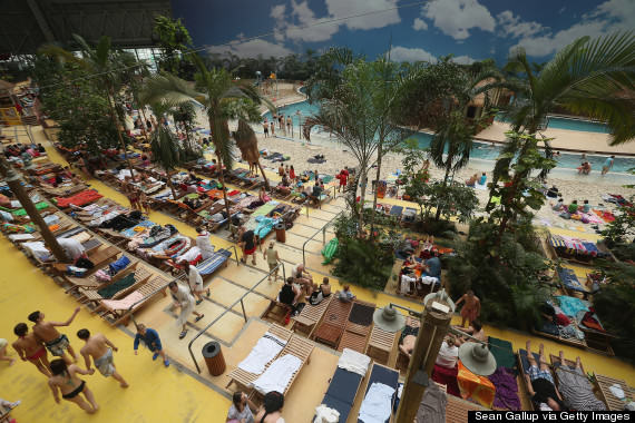 o 161955583 570 This Massive Aircraft Hangar In Germany Is Actually A Tropical Island Paradise