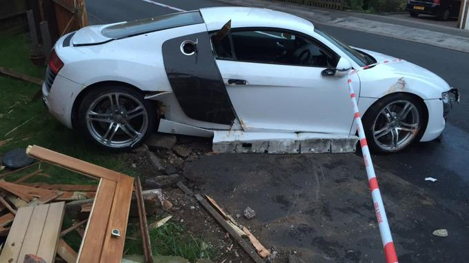 stream img 3 Drunk Teenager Crashes Dads £100,000 Audi R8 Into Pensioners Home
