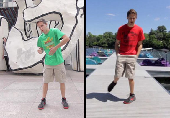100 dance WEB Lad Does The Same Dance In 100 Different Places In Epic New Video