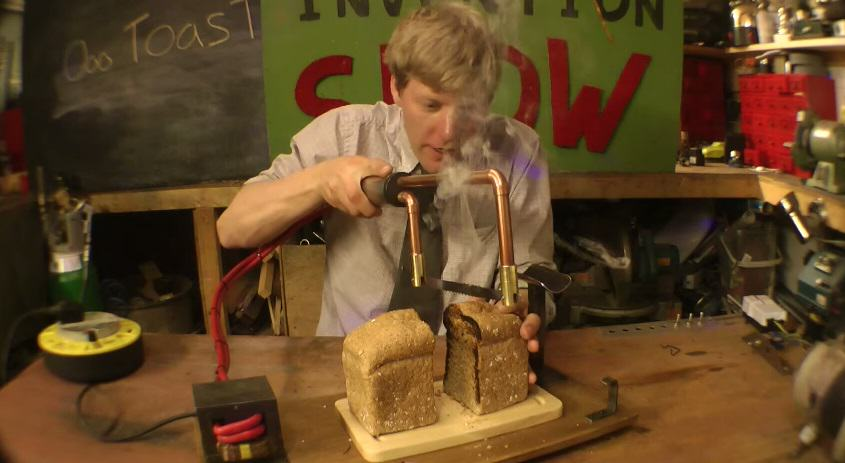 118 A Knife That Toasts Bread As It Slices It   Brilliant