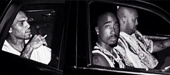 12 Chris Brown Posted A Photoshopped Pic Of Him With Tupac On Instagram For Some Reason