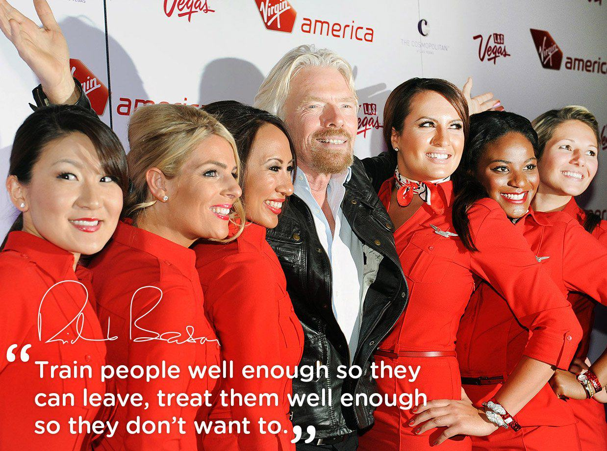 Richard Branson Gives Year Of Paid Leave To New Parents Richard quote train people s