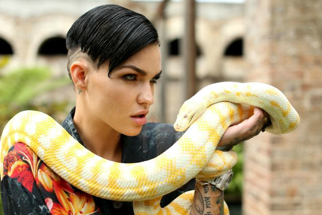 Ruby Rose snake The New Girl In Orange Is The New Black Has Got Everyone Talking