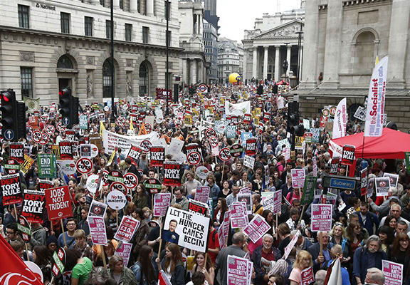 anti austerity WEB 2 Thousands March In London To Protest Against Government Austerity Cuts