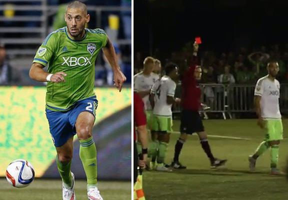 dempsey WEB Clint Dempsey Literally Tears Up The Rulebook And Gets Sent Off