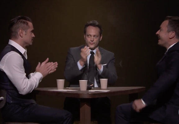 Colin Farrell Reveals He Was Once A Suspect For Attempted Murder, Freaks Vince Vaughn Out farrell fallon WEB