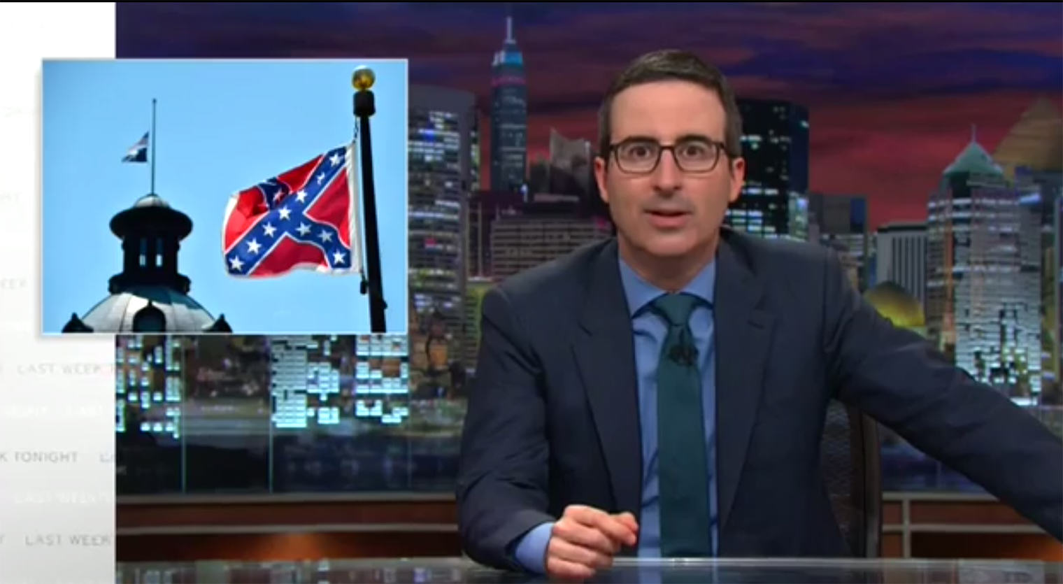john oliver confederate John Oliver Has A Very Simple Solution For South Carolina And The Confederate Flag