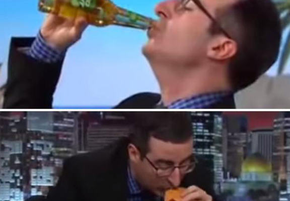 mcd web John Oliver Loses FIFA Bet, Has To Eat Entire McDonalds Pound Menu