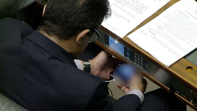 mp porn 1 Brazilian MP Caught Watching Porn On His Phone During Debate In Parliament