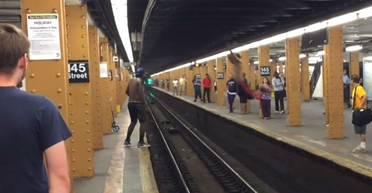 platform fb Man Tries To Jump Across Railway Tracks, Guess How This Ends