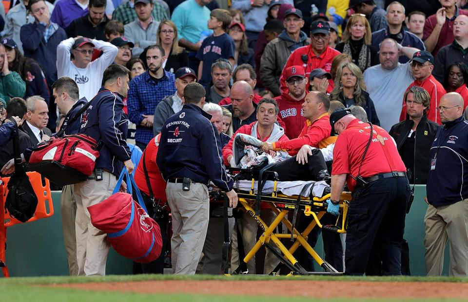 red sox1 Fan Hit By Broken Bat During Red Sox Game Has Life Threatening Injuries