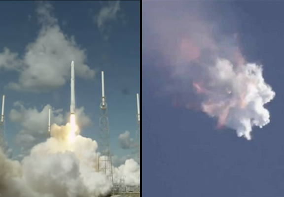 Unmanned SpaceX Rocket Explodes Shortly After Launch rocket explode WEB