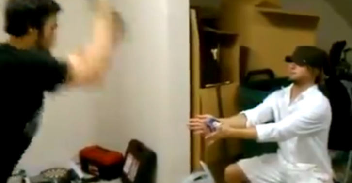 sams fb Drunk Guy Tries To Slice Beer Can Friend Is Holding With Samurai Sword, It Ends Badly