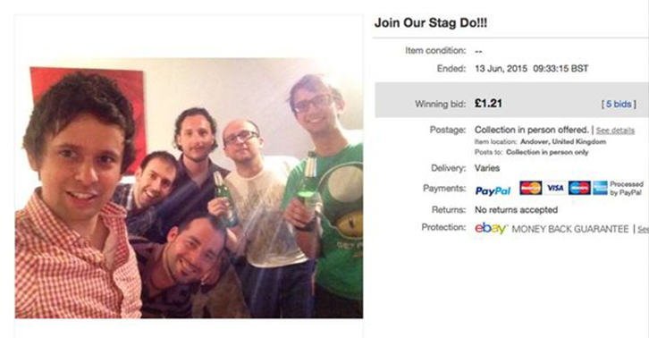 stag do fb Guys Sell Place On Stag Do To A Random Woman On eBay Theyve Never Met