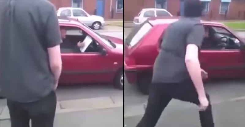 Bailiff Gets Knocked Out While Driving Mans Car Away 1118