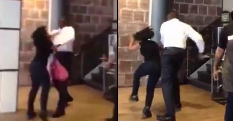 147 Woman Quits Job During Shift, Boss Knocks Her Out In Outrageous Footage