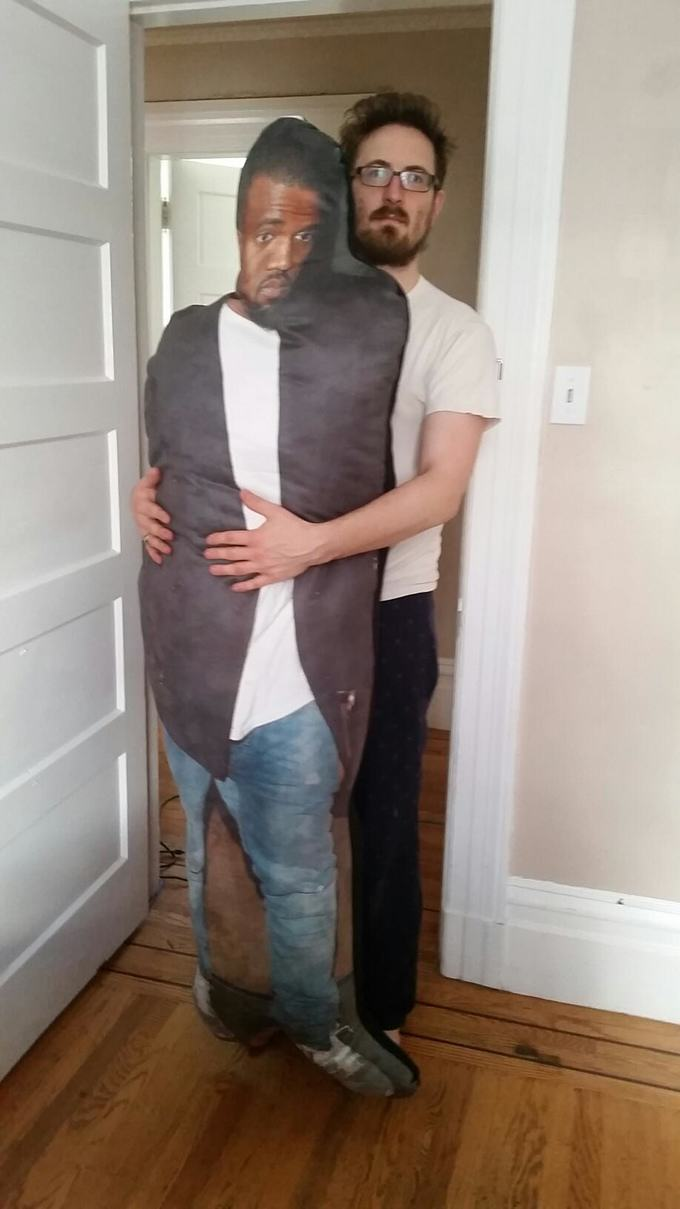 218 These Guys Want To Give Kanye This Lifesized Pillow Of Kanye