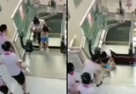 55b62b38aa33c Mother Dies Heroically Saving Her Young Son In Escalator Collapse