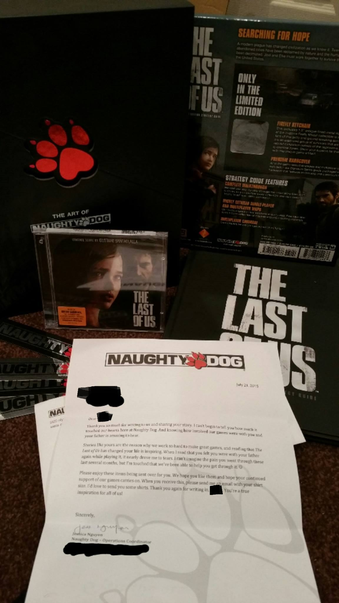 55b8aa444ebf5 Naughty Dog Reaches Out To Grieving Fan In An Amazing Way
