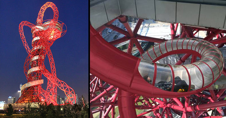 Worlds Biggest Helter Skelter Is Coming To Londons Orbit Tower 55b902a0b4e5c