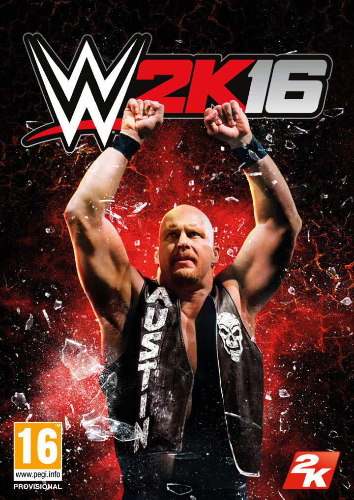 STEVEA WWE 2k16s New Cover Superstar Is The Legendary Stone Cold Steve Austin